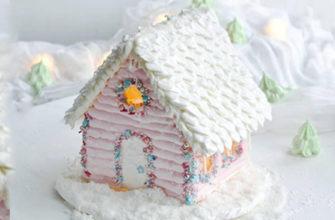 Новогодний домик из безе - Безе для 3d моделирования - Простой пошаговый рецепт в домашних условиях