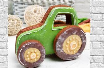 """Имбирный пряник """"Трактор"""" / Вкусный подарок-игрушка на 23 февраля / Простой рецепт приготовления"""