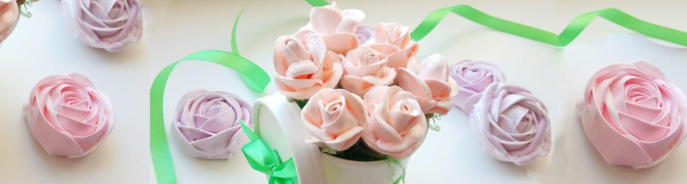 Розы из безе на соломке - Невероятно простой и очень вкусный букет - Крутая идея подарка на 8 марта