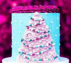 Декор торта в новогоднем стиле