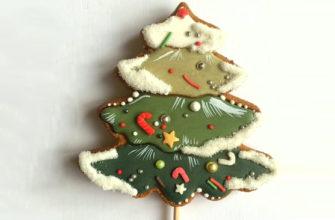 """Новогодний пряник """"Мышка"""" - Простой способ расписать имбирный пряник к новому году"""