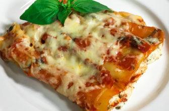 """Итальянская паста """"Каннеллони"""" - макароны фаршированные творожным сыром - простой пошаговый рецепт"""