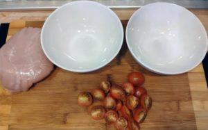 Паста фарфалле с индейкой и помидорами черри в сливочном соусе - вкусный домашний рецепт