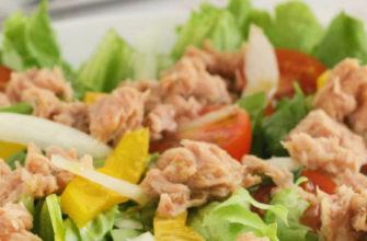 Салат с тунцом/ очень вкусный и простой рецепт салата/ легкий салат с консервированным тунцом