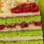 Торт фисташка-малина рецепт