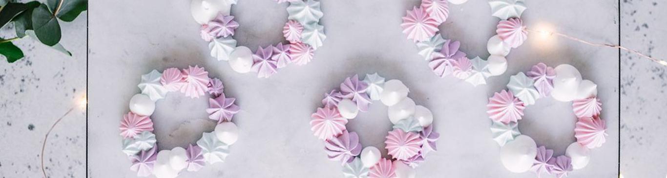 Как сделать венок из безе? Готовим новогодний венок из меренги своими руками в домашних условиях