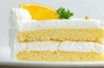 Лимонный торт за 30 минут
