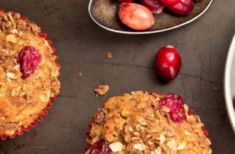 Овсяное печенье с ягодами без сахара.
